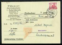 Berlin MiNr. 52 Einzelfrankatur auf Nachnahme gelaufen (F501