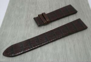 Men's Rotary Original Dark Brown,22mm,Grained Leather Watch Strap, Bright