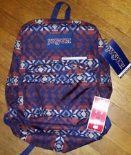 JANSPORT Digibreak Backpack Burnt Henna Abstract Angles Laptop Sleeve NEW