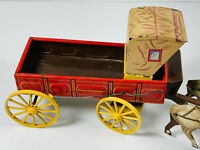Vintage Northwestern Tin Litho Carriage Horse cart stagecoach Toy car