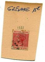 Timbres colonies anglaises : Grenade - Cost gold - Iles Turk Island
