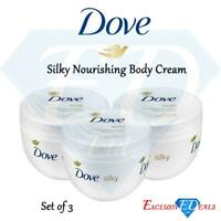 Dove Silky Nourishment Body Cream For Soft Skin & Dry Skin Pack of 3 x 300ml