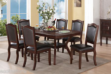Modern Dark Brown 7 Pc Dining Set Table Chairs Chair Dining Room Furniture Home