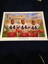 Jim Brown Ernie Davis Floyd Little Syracuse Football 44 Litho Signed Little JSA