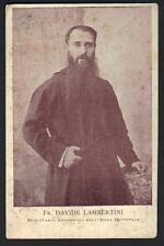 INDIA 1900 PHOTO CARD OF ITALIAN MISSIONARY IN INDIA
