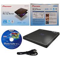 Pioneer BDR-XD05B External Slim Portable Blu-ray BDXL DVD CD Burner Writer Drive