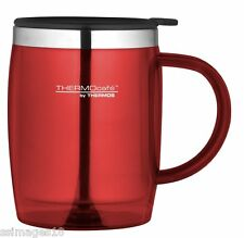 Thermos Thermocafe 0.45 Litre Desktop Mug Red Camping Picnic Cup Coffee Tea New