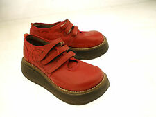 KRIZA ALL MAN MADE WEDGE HEEL PLATFORM LOAFERS MADE IN ISRAEL  EU 39 US 8-8.5