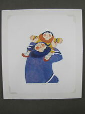 """Rie Munoz Signed/Numbered Limited Edition Serigraph - """"Gambell Mother"""" 855/1250"""