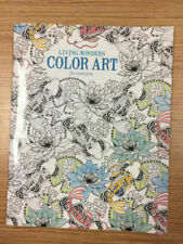 Living Wonders Color Art Adult Coloring Book Leisure Arts Stress Reliever 2015