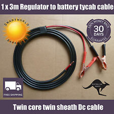 1 x 3m tycab cable from regulator to battery lead with 30A 70mm clips Solar kit