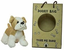 5 Inch Bulldog Plush Dog With Doggie Bag
