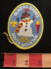 Jacket Patch 1994 SOUTH MOUNTAIN GLACIAL GAMES Snowman Top Hat Snow 83WD