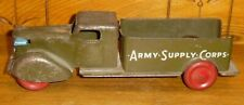 Vintage Wyandotte Pressed Steel Army Supply Corp Truck - 12""