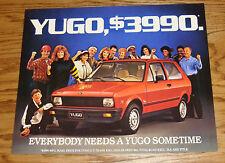 Original 1987 Yugo Sales Sheet Brochure 87