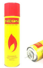 NEON ULTRA REFINED BUTANE GAS FILTERED LIGHTER REFILL FUEL w/ 5 Adapters