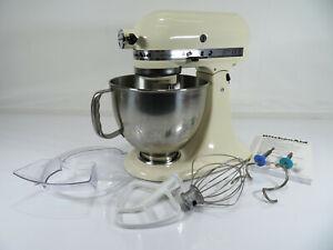 Kitchen Aid - Artisan Mixer 5KSM150 - Almond Cream - Manual - Whisk - Boxed