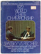 programme commemoratif commemorative match fischer spassky 1972 reykjavik