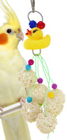 1816 CHEW MY DUCK BIRD TOY parrot cage toys foraging cages cockatiel parakeet