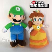 "2X New Super Mario Bros. Plush Luigi Daisy Soft Toy Stuffed Animal Doll 9"""