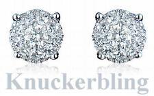 18 Carat Cluster White Gold Fine Earrings