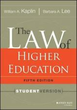 The Law of Higher Education Fifth Edition