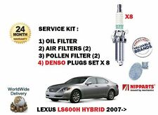 para LEXUS LS600h 5.0 2ur-fse 2007-2009 Filtro de polen aire ACEITE + Bujías Set