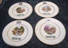 4x Piastre Decorative stagioni DOUGLAS Lodge Lancashire NOTTE FEB 1984 CROWN DEVON