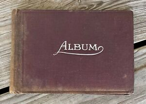 Old Antique Postcard (or Photo) Small Album, Empty, Black Pages SEE VIDEO