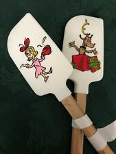 NEW~ Pair of 2 Williams Sonoma THE GRINCH Spatulas 8 3/4""