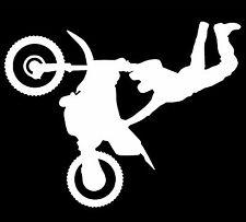 Super Motocross Stunt Dirt Bike Vinyl Decal Sticker Car Truck Window