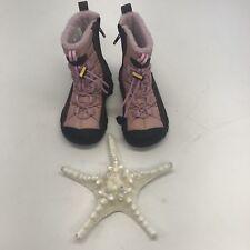 Keen Girls Boots Vail Waterproof sz 9 Zip Lined Winter Shoes Pink Warm Logo