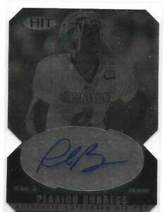 PLAXICO BURRESS ROOKIE AUTOGRAPH 2000 SAGE HIT A4 PITTSBURGH STEELERS SPARTANS