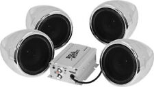 Boss Audio 1000w Bluetooth 4 Speakers+Amp Handlebar System Motorcycle/ATV Chrome