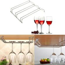 Wine Glass Under Cabinet Rack Holder Shelf Hanger Stemware Bar Dining 1/2 Rows