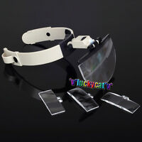 Dental Lab Hands Free Head Magnifying Glass Magnifier with LED Light