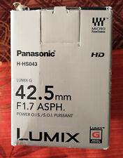 Objectif hybride Panasonic Lumix G 42,5mm f/1.7 - NEUF