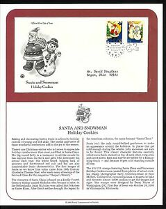 #3949-3952 37c Holiday Cookies 2005 - Set of 4 on 2 PCS FDCs w/ Info Pages
