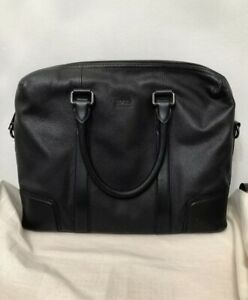 🔥 $798 Hugo Boss Morval Leather Briefcase Leather Bag (Discontinued model)