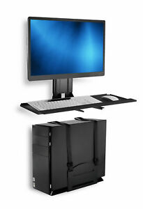Mount-It! Monitor and Keyboard Wall Mount with CPU Holder   Keyboard Tray