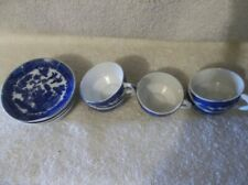 Vintage Child's Blue Willow 5 Cups & 6 Saucers
