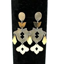 James Avery RETIRED Sterling Silver & 14k Yellow Gold Chandelier Dangle Earrings
