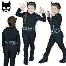 Child Catwoman Kids Batman Dark Knight Girls Fancy Dress Costume Mask Ages 7-12