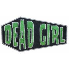 """Dead Girl"" Coffin Casket Horror Kreepsville Embroidered Iron On Applique Patch"