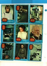 1977 Topps Star Wars 1st Series 1 Blue Complete 66 Cards Set Ex + TO FEW NM