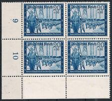 MINR. 892 be ul en el correo viererblock fresco -- esquina inferior izquierda