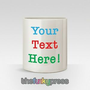 Personalised Any Text For Free Pen Pot Make up Brushes Pencils Desk Tidy