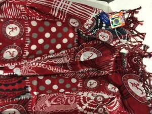 """ALABAMA Officially Licensed Crimson Tide Game Day MIXED PRINT Scarf 72""""x24"""" #18"""