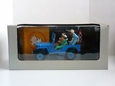 VERY RARE LARGE TINTIN VINTAGE HAPAX JEEP BLEUE 1994 (1/18)  NEW IN THE BOX