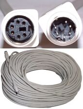 100ft long PS2 6pin mini DIN/MD6 Male~Female Extension Cable/Cord Mouse/Keyboard